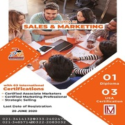 DIPLOMA IN SALES & MARKETING WITH LIVE ONLINE - 3D EDUCATORS